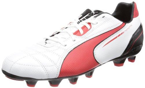Puma Momentta MG 102677, Herren Fußballschuhe, Weiß (metallic white-high risk 04), EU 43 (UK 9) (US 10)