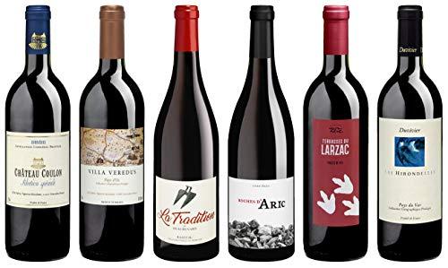 Bio Wein Rotwein Probierpaket Weinset Weinpaket Geschenk Paket Frankreich Trocken Vegan (6 x 0.75 l)
