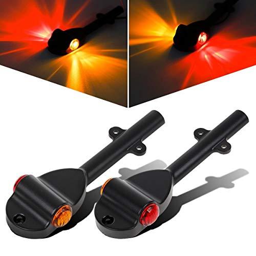 Partsam Set RED AMBER LED Trailer Fender Bullet 3/4' Led Clearance Marker Light Left Right