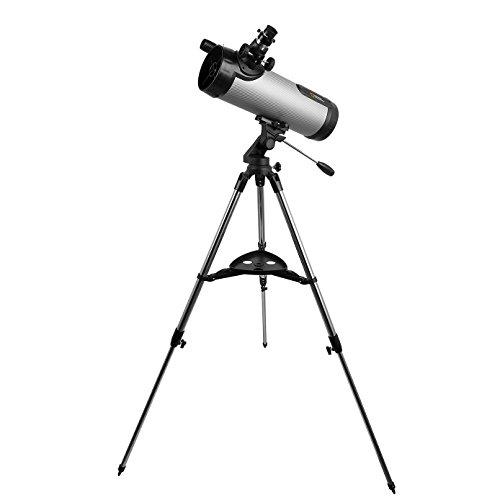 BRESSER National Geographic NT 114CF Silver Carbon Fiber Telescope 80-20114