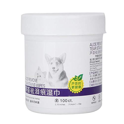 Redxiao Feuchttücher für Haustiere, 100 Stück, weiches und weiches Baumwoll-Material mit weichen und ungiftigen Reinigungstüchern für Hunde und Katzen