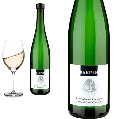 12er Karton 2019 Riesling Spätlese trocken Wehlener Sonnenuhr von Weingut Kerpen - Weißwein