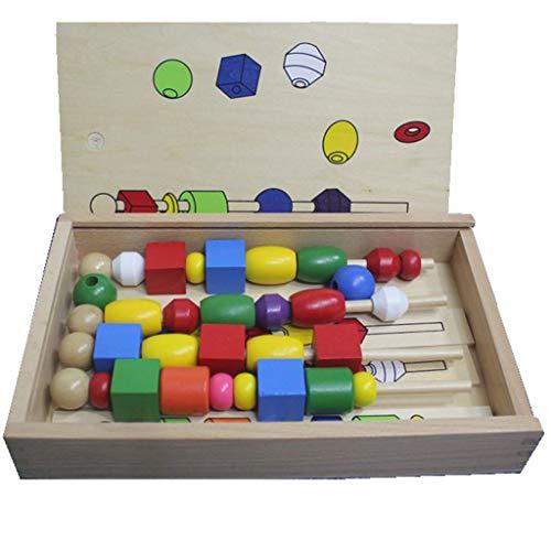 kids toys Boîte multifonctionnelle de Jouets intelligents d'intelligence Jouets assemblés Jouets éducatifs pour Enfants pour 3 Ans Portant des Jouets en Bois perlés Jouets pour bébés Jouets perlés