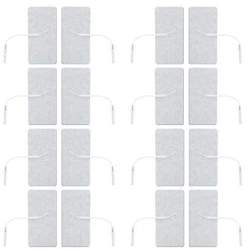 Elettrodi autoadesivi per elettrostimolatori Med-Fit, Tesmed, I-Tech, Axion - 16 elettrodi di elevatissima qualità - dimensione: 5x10cm - adatti a tutti gli stimolatori tens con connettori da 2 mm