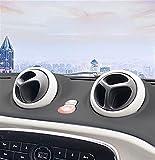 MJJD Adornos Cubierta 4 Uds Aire Acondicionado Interior Coche Salida Aire Carcasa Decorativa ABS para Nuevo para Smart 453 Fortwo Forfour Accesorio Modificado Estilo Accesorios Decorativos Coche