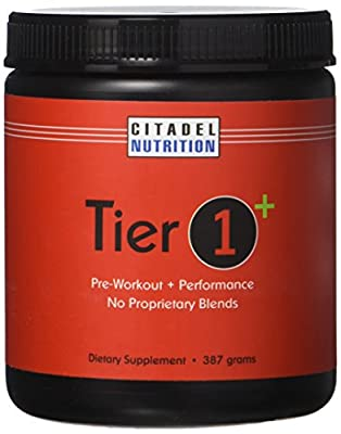 Tier 1 Plus Preworkout / Performance Supplement (387g)