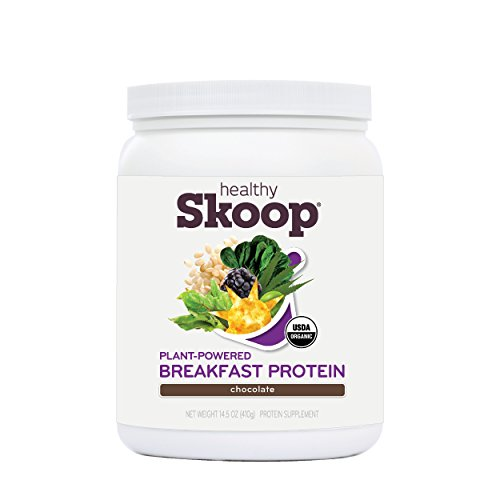 Healthy Skoop All-in-One Breakfast Protein Organic Nutritional Shake with Plant Based Protein and Fiber, Chocolate, 14.5 Ounces