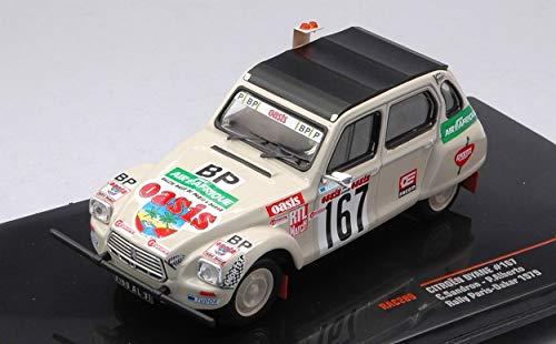 Ixo Model Compatibile con Citroen Dyane N.167 Rally Paris-Dakar 1979 SANDRON-Albert 1:43 DIECAST RAC289