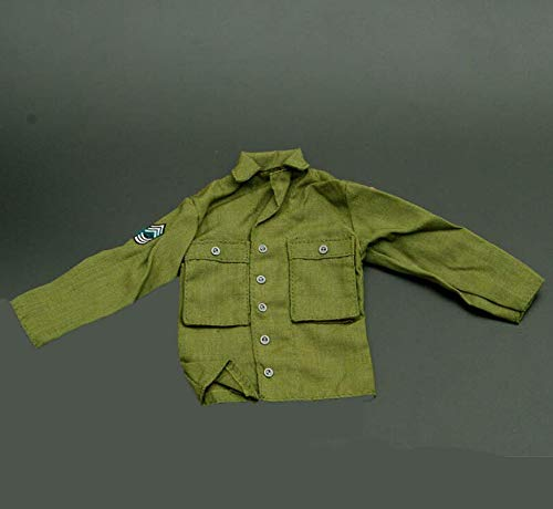 Kleding Model 1/6 WWII Us Soldier Figuur Leger Groen Shirt Jas Top Coat Uniform Toepassen op voor 12'' Action Figure Body