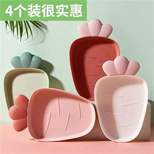 CYP Ant Fruit Strawberry Shape Plate Set Plates Dinner Set Dishes Plastic Plates Snack Bowls and Plates Dinette,4pcs