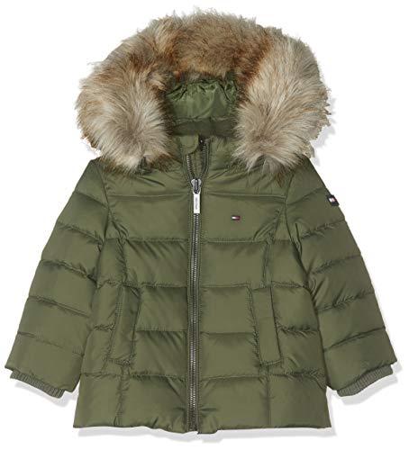 Tommy Hilfiger Essential Basic Down Jacket Chaqueta, Verde (Thyme 304), 74 para Bebés