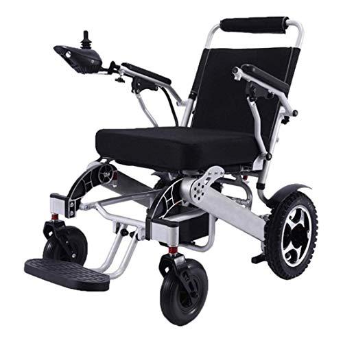 41sHWwgGmOL - WISGING 2020 Silla de ruedas eléctrica portátil plegable ligera plegable Deluxe Potente motor twin Silla de ruedas compacta con ayuda de movilidad - Pesa solo 59 lbs con batería - Soporta 286 lbs