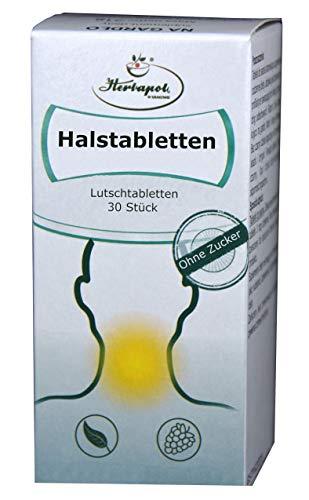 Halsschmerzen Lutschtabletten, 30 St. mit Echinacea u. weiteren Kräutern, beseitigen Rachenentzündung, mildern Reizung u. Halsschmerzen, erkältungsmittel, erkältungsbalsam, globuli, erkältung,