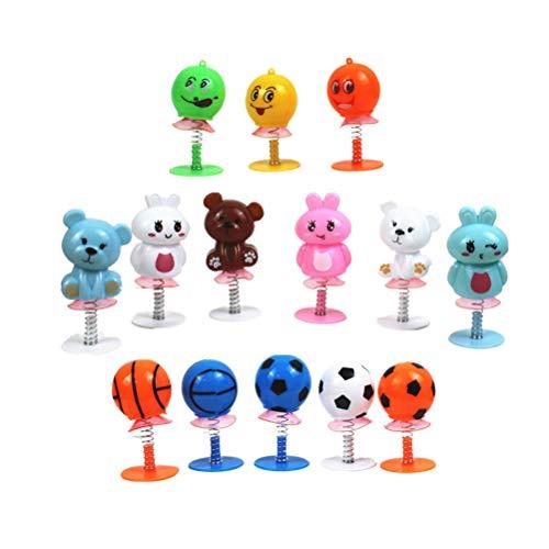 YeahiBaby 12Pcs Springende Monster Wackelköpfe Spielzeug für Kinder Spielen Geschenke (Zufallsmuster)