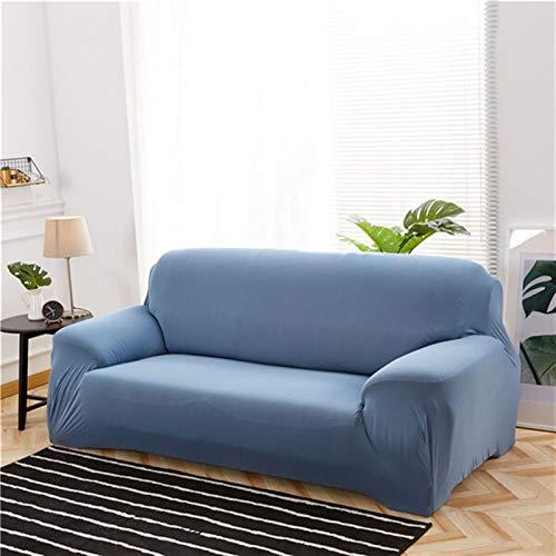 kengbi Funda de sofá duradera y fácil de limpiar, funda de sofá elástica de color sólido para sala de estar, universal, elástica, estilo L, funda de sofá de esquina seccional, 23 colores
