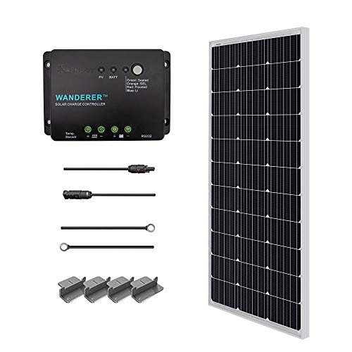Renogy 100 Watt 12 Volt Monocrystalline Home Solar Power Kit