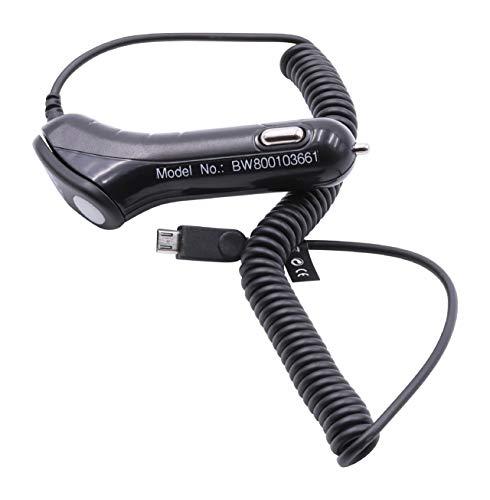 vhbw Caricabatterie da Auto Micro-USB incl. Extra Porta USB per ALCATEL One Touch OT-217D, OT-536, OT-602D, OT-668, OT-706 etc.