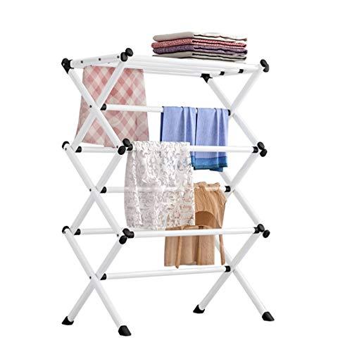 Solerconm Tendedero plegable de 3 niveles, para ahorrar espacio, 38,5 x 24,8 x 15,3 pulgadas, tendedero para ropa, jardín, interior y exterior