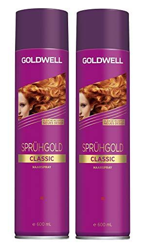 2 x Goldwell Sprühgold Classic Haarspray 600 ml.