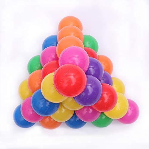WuYou 100 bolas de plástico suave para el océano de 5,5 cm para nadar y juguetes para bebés y niños coloridos
