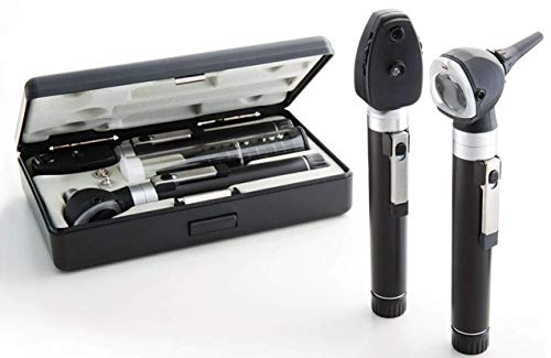 ADC Otoscope/Ophthalmoscope Diagnostic Set, Pocket Size, Xenon Lamp, 2.5V, Hard Case, Diagnostix 5110N