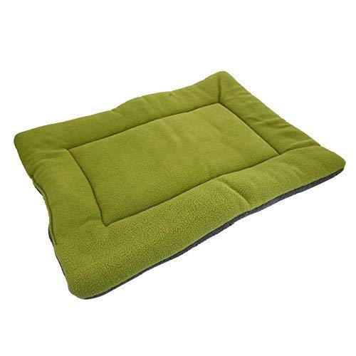 Mcottage - Cojín de Seda Suave y cómodo, Lavable, para Mascotas, Verde, Large