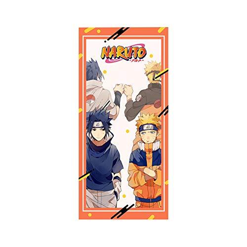 redCherry Anime Cartoon Handtücher Super Saugfähigen Handtuch Waschlappen für Bad Spa Gym Sportwagen Küche(Naruto)