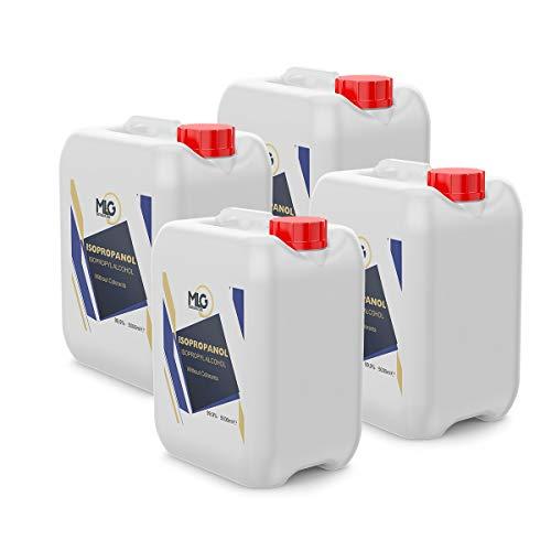 4 x Garrafas Alcohol Isopropílico 99,9% 5 Litros | IPA de Limpieza | Ideal para limpieza para componentes electrónicos | 20 Litro
