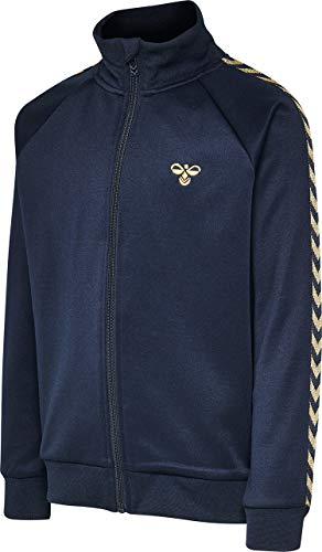 Hummel Kinder Trainingsjacke Kick Zip Jacket 202883 Black Iris/Gold 152