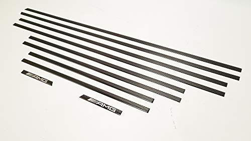 AMG Style Carbon Fiber Side Molding Inserts Set – Moulding Trim - G63 Moulding – for Mercedes-Benz G-Class W463 G500 G55 G63 G65 – 10 pcs kit