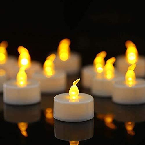 Tappovaly 24 Stück LED Teelichter,LED Flammenlose kerzen, Flackern Teelichter, elektrische Kerze Lichter Batterie Dekoration für Weihnachten, Weihnachtsbaum, Ostern, Hochzeit, Party
