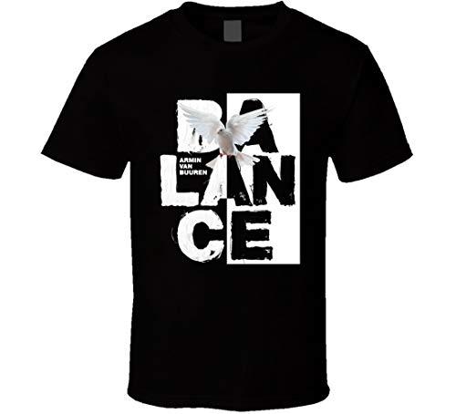 Armin Van Buuren Camiseta Armin Van Buuren Balance Album Cover T-Shirt Top Trance Camiseta Música Camiseta Concierto T- Gig T Shirt Negro