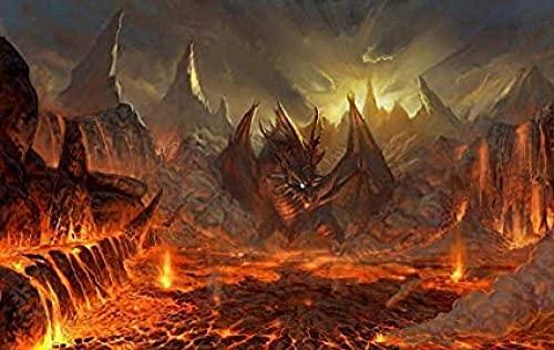 ZYYSYZSH Rompecabezas de Papel de 1000 Piezas, Rompecabezas clásico de película Purgatory Dragon Poster, Juguetes para Adultos, para Regalos de cumpleaños de niños y niñas (38 x 26 cm)