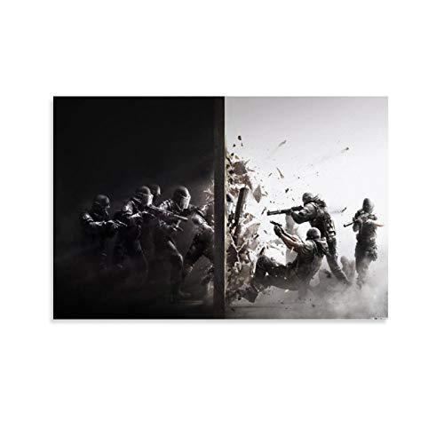 Huangchen Game Poster Tom Clancy's Rainbow Six Siege, Leinwand-Kunstposter und Wandkunst, Bild, modern, Schlafzimmer, Dekoration, 50 x 75 cm