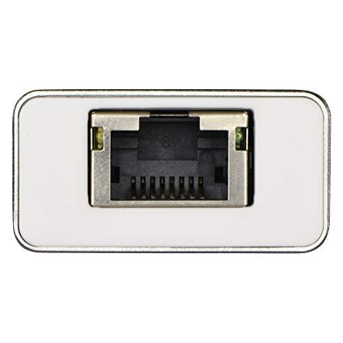 Hama USB 3.1 Type-C Hub, 3-fach, mit LAN-Port (2x USB-A, 1x USB-C, 5 Gbit/s Super-Speed, 1000 Mbit/s Ethernet, für PC/Mac/Laptop/Tablet m. USB-C/Thunderbolt 3) externer USB-Verteiler, Multi-Hub