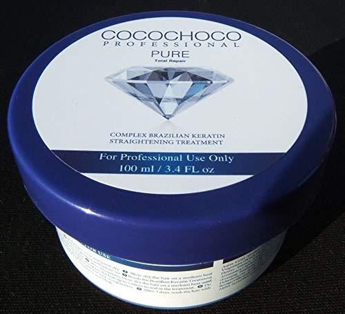 COCOCHOCO Pure Kit de traitement à la kératine pour cheveux blonds - Lissage brésilien - 100 ml