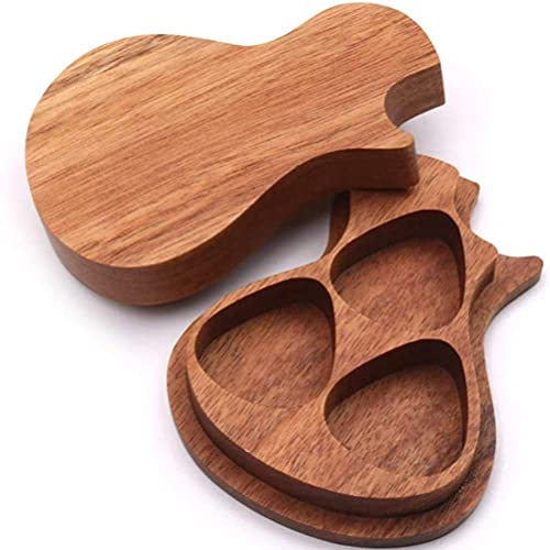 TYUXINSD Schön Personalisierte holzgitarre picketbox, Gitarre Holz Picks Box akustische elektrische bassgitarre Ukulele Musik Geschenk für Freund