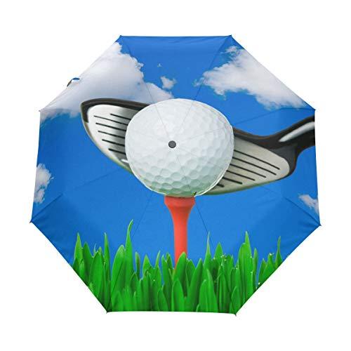 BIGJOKE - Paraguas Plegable de 3 Pliegues con Cierre automático, para Deporte,...