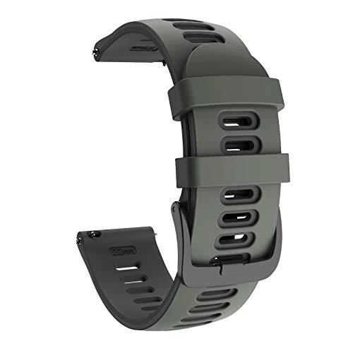 ISABAKE 20mm Correa Reloj Garmin de Silicona Suave para Galaxy Watch 42 mm/Garmin Vivoactive 3/Samsung Galaxy Active 2/Garmin Forerunner 245/245 Music/Vivomove HR/Forerunner 645/Forerunner 645