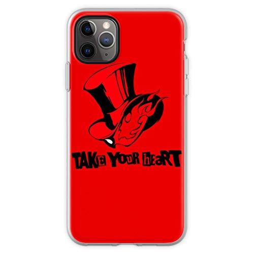 Gladiour Compatible con iPhone 11 12 Pro Max XR 6/7/SE 2020 Funda Take Your Heart Persona 5 Funda de teléfono Pure Clear Funda de protección a prueba de golpes