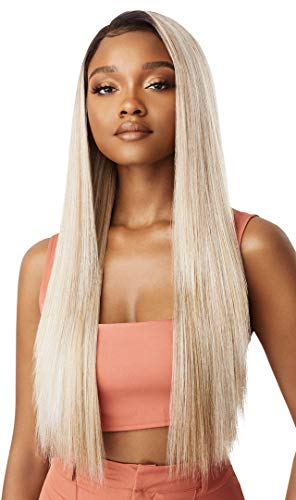 Outre LACEFRONT COLORBOMB Loose Straight Willow Tree Style Salon-Quality Colors Premium High Heat Resisitant Synthetic, Celebrity Baddies & Social Media Influencers Flaunting - KOURTNEY (3DRFFWTBL)