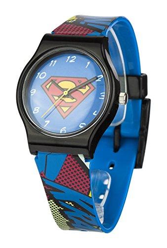 Superman Reloj Analógico para Unisex de Cuarzo con Correa en Plástico SUP4DC