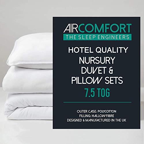 AirComfort Hotel Quality Polycotton Anti-Allergy Hollowfibre Nursery Duvet...