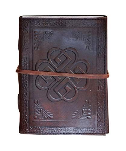 Vintage Leather Bazaar Celtic Knot the Breaking Benjamin Symbol Travel Blank Leather Diary/Journal/Gifts 7 Inch