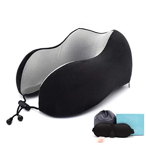 Neksteun, magnetisch, 30 x 28 cm, vulling van katoen met masker voor de oren, oordopjes voor op kantoor, voor op reis en nek in U-vorm.