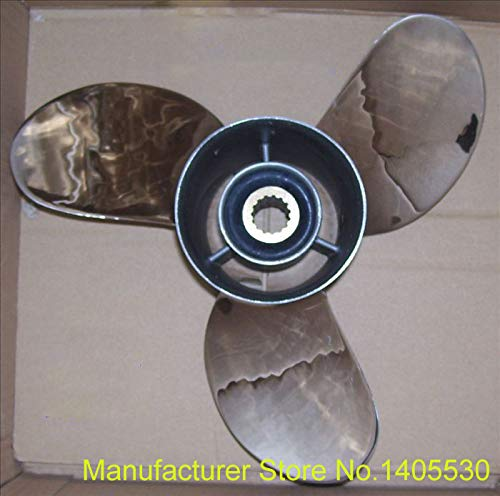 Find Bargain Ignar Boat Engine Stainless Steel Propeller for Tohatsu Yamaha Outboard Motor 2 Stroke ...