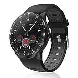 HopoFit Smartwatch Fitness Tracker, HF06 Voller Touchscreen mit Pulsmesser Schlafmonitor, Wasserdicht Schrittzähler,SMS-Erinnerung Aktivitätstracker Herren Damen für Android iOS (Black)