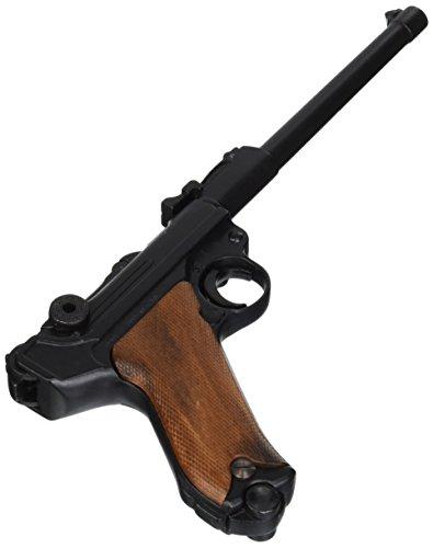 arma decorativa di alta qualità - Pistola auto-carica, calibro 9 mm, parabello/Germania 1917 - Lunghezza: 35 cm - Colore: nero e legno - Materiale: metallo (impugnature in legno)