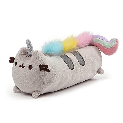 GUND Pusheenicorn Pusheen Unicorn Cat Plush Stuffed Animal Accessory Pencil Case, Gray, 8.5'
