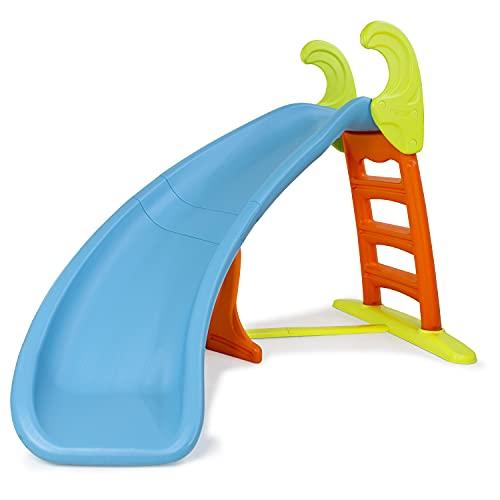 FEBER - Slide Curve con agua, tobogán Curvo equipado con conexión de agua, colores...